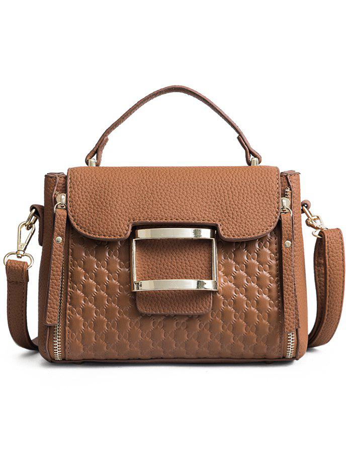 Best Bowknot Embossed Matte PU Leather Crossbody Bag