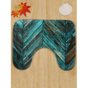 Retro Wood Grain Print 3 Pcs Toilet Mat Set -