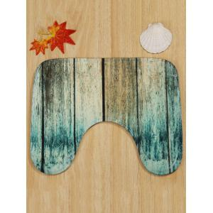 Moldy Plank Patterned 3 Pcs Toilet Mat Set -