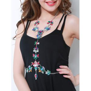 Sparkly Rhinestoned Faux Gem Body Chain -