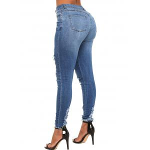 Whisker Distressed Skinny Jeans -