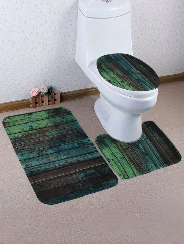 Cheap Vintage Borad Print 3 Pcs Toilet Mat Set