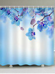 Phalaenopsis Pattern Showerproof Bath Curtain -