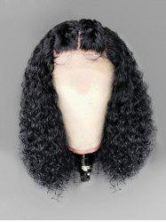 Long Middle Part Fluffy Curly Lace Front Synthetic Wig -