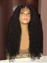 Long Center Parting Fluffy Curly Synthetic Lace Front Wig -