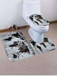 World Map Pattern 3 Pcs Toilet Mat Bath Mat -