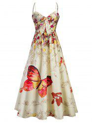 Cami Bowknot Floral Party Maxi Dress -
