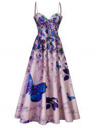 Maxi Dress Cami Bowknot Floral Party -