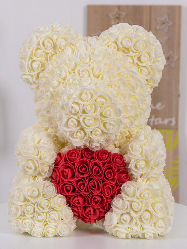 39 Off Love Heart Shaped Artificial Rose Flowers Bear For Gift Rosegal