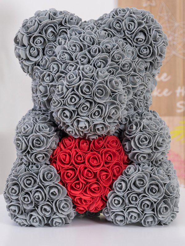 Outfits Love Heart Shaped Artificial Rose Flowers Bear for Gift