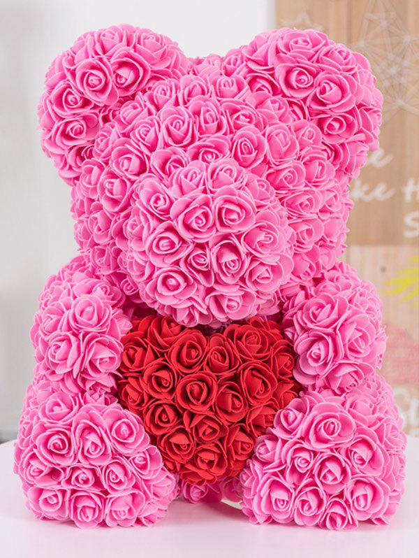 Love Heart Shaped Artificial Rose Flowers Bear for Gift