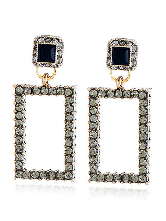 Shop Vintage Rhinestoned Geometric Front Back Earrings