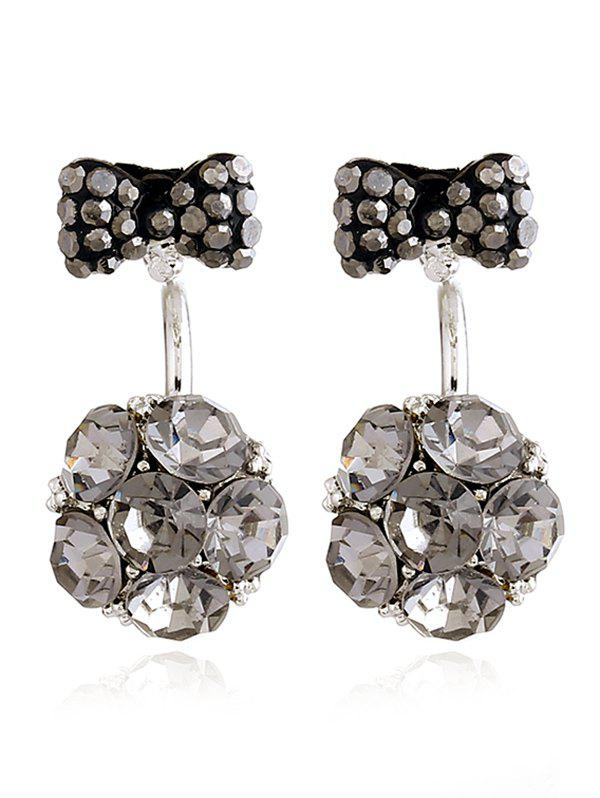Affordable Rhinestoned Bowknot Floral Ear Jackets