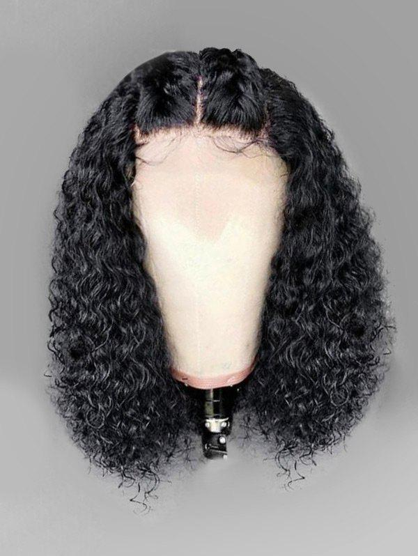 Discount Long Middle Part Fluffy Curly Lace Front Synthetic Wig