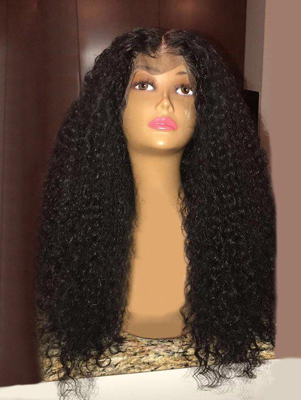 Sale Long Center Parting Fluffy Curly Synthetic Lace Front Wig