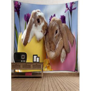 Bunny Lovers Print Wall Hanging Tapestry -