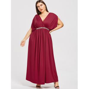 Plunge Plus Size Prom Maxi Dress -