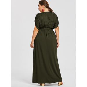 Short Sleeve Plus Size Longline Dress -