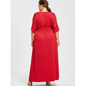 Slit Sleeve Plus Size Longline Dress -