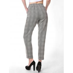 FRENCH BAZAAR Striped Plaid Casual Long Suit Pants -