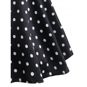 Plus Size Polka Dot Sleeveless Dress -