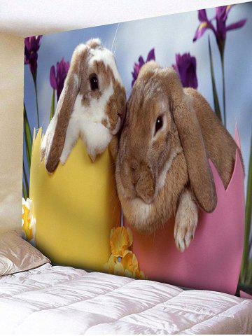 Trendy Bunny Lovers Print Wall Hanging Tapestry