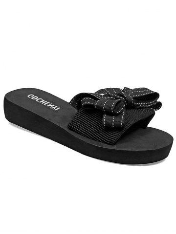 Discount Bowknot Platform Slide Sandals