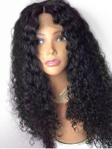 Unique Long Center Parting Shaggy Curly Lace Front Synthetic Wig