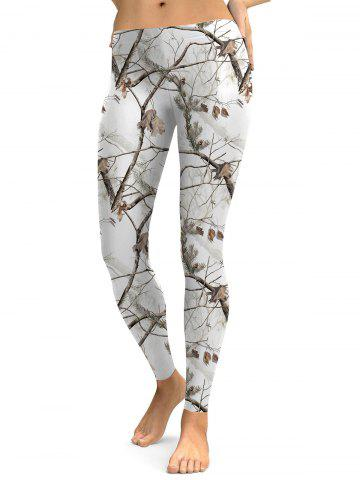 Chic Branch Pattern Leggings
