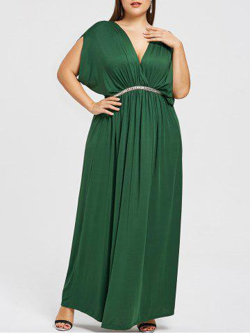 Trendy Plunge Plus Size Prom Maxi Dress