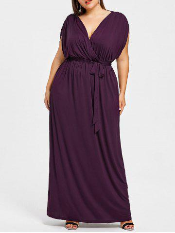 Cheap Short Sleeve Plus Size Longline Dress