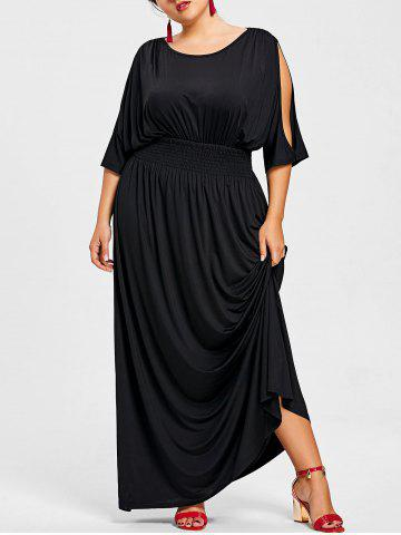 Outfits Slit Sleeve Plus Size Longline Dress