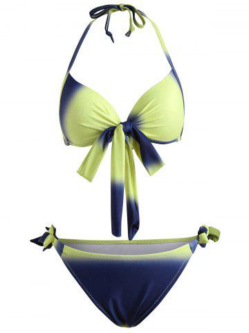 Outfits Push Up Ombre Halter Bikini Set