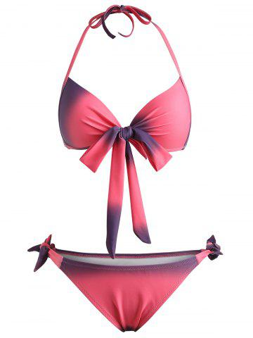 Push Up Ombre Halter Bikini Set