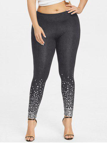 Outfit Plus Size Stars Pattern Leggings