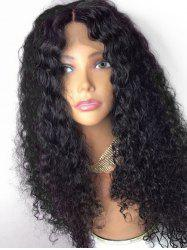 Long Center Parting Shaggy Curly Lace Front Synthetic Wig -
