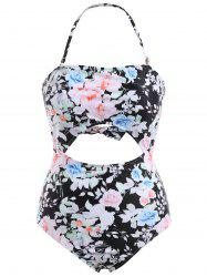 One Piece Floral Backless Swimsuit -