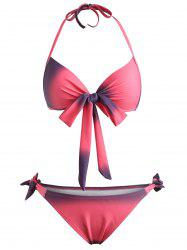 Push Up Ombre Halter Bikini Set -
