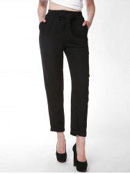 FRENCH BAZAAR Office Lady Full Length Slim Fit Suit Pants -