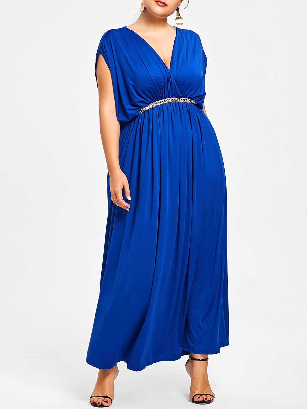 New Plunge Plus Size Prom Maxi Dress