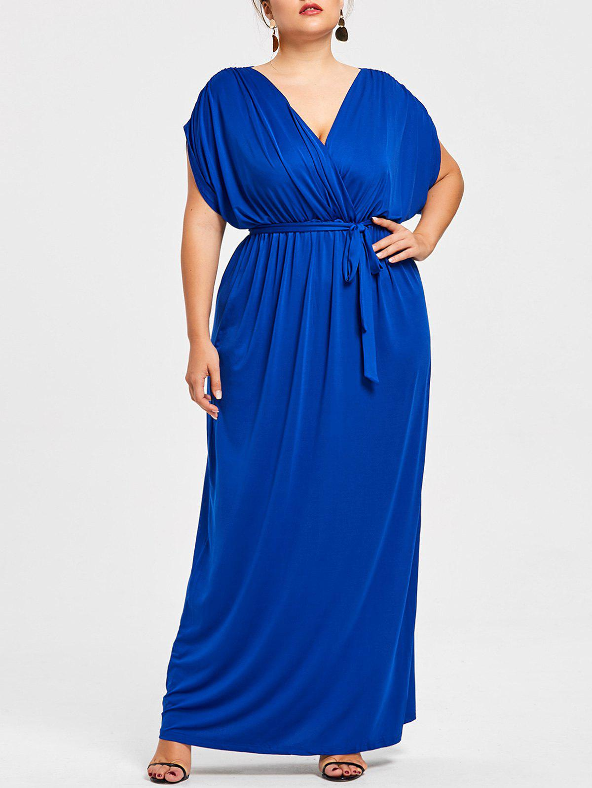 Hot Short Sleeve Plus Size Longline Dress