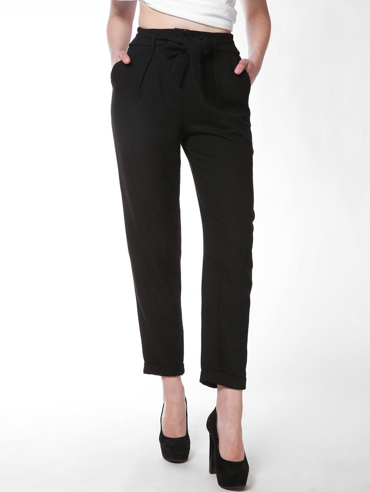 Fancy FRENCH BAZAAR Office Lady Full Length Slim Fit Suit Pants