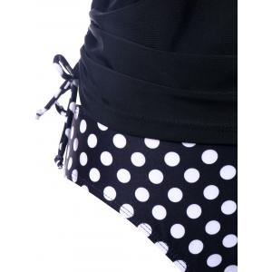Empire Waist Polka Dot Tankini Set -