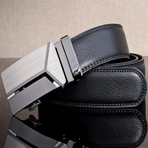 Stylish Polished 3D Y Shape Automatic Buckle Wide Belt -