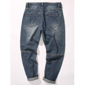 Tapered Fit Cuffed Nine Minutes of Jeans -
