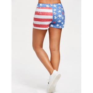 USA Flag Drawstring Shorts -