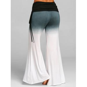 High Rise Ruched Gradient Bell Bottom Pants -