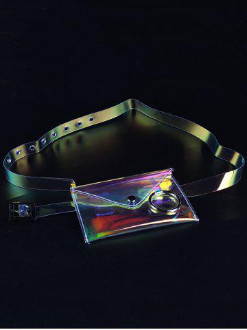 Fashion Unique Fanny Pack Plastic Transparent Belt