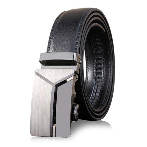 Shop Stylish Polished 3D Y Shape Automatic Buckle Wide Belt
