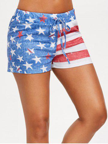 Shorts à cordon drapeau USA